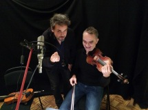 Recording violin with George van Dam